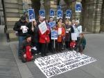 Protest against nursery closures outside Edinburgh city chambers