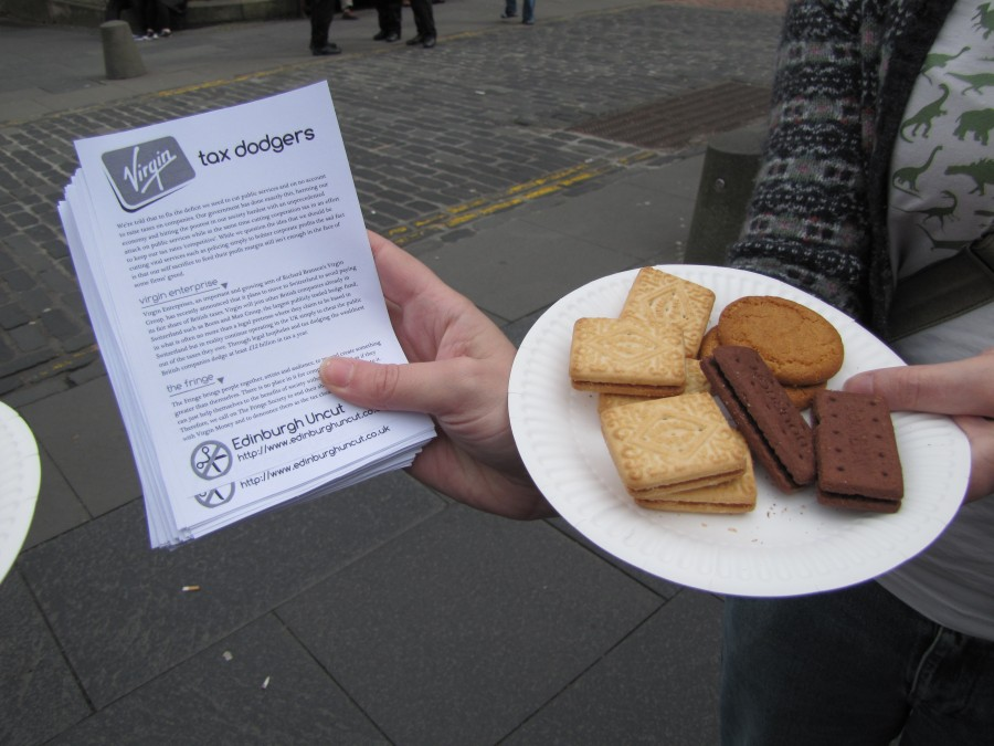 Flyers and subversive biscuits